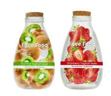 NEW Vitamasques Yoghurt Mask Duo Kiwi and Strawberry Face Food Set of 2 IPSY