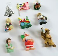 Mixed Lot of 9 Vintage Mostly 1990's Hallmark Christmas Ornaments Decor