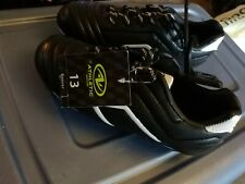 ATHLETIC WORKS- Youth Toddler 13 SOCCER CLEATS  BLACK/WHITE NWT