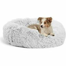 New listing Jincheng Calming Dog Bed Cat Bed Donut Faux Fur Pet Bed Self-Warming Donut Cu.