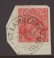 Queensland nice ST LAWRENCE postmark on KGV piece