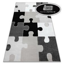 """Modernen billig Teppich BCF Puzzle grau schwarz weiß """"ANNA"""" besten-teppiche"""