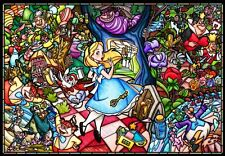 Disney Alice in Wonderland Stained Glass Style Jigsaw Puzzle 1000Pcs DP-1000-027