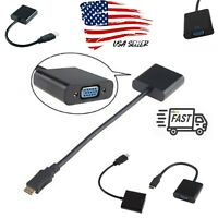 1080P HDMI Male to VGA Female Video Cord Converter Adapter Cable for HD TV TV PC