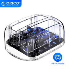 ORICO External Drive Enclosure Docking Station 2Bay HDD Case SATA to USB3.0
