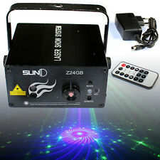 SUNY RG 3 Lens 24 Patterns LED Laser Projector Disco Party Show Stage Lighting