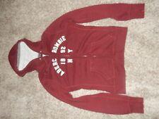 Vintage M ABERCROMBIE & FITCH New York Hoodie Hooded Sweatshirt Full Zip Jacket