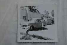 Vintage Car Photo Pretty Girl w/ 1954 Chevrolet Chevy Wagon Vans Party Store 847