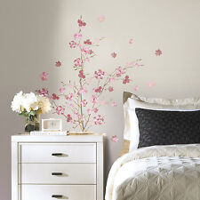 PINK BLOSSOM BRANCH GiaNT WALL DECALS Floral Branches Stickers Pink Home Decor