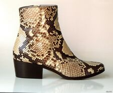 new $1400 JIMMY CHOO 'Brianna' PYTHON snakeskin ankle BOOTS 35 5