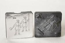 Gußform für Zinnfiguren/ Zinnbrigade 33N  2 Soldaten (114943)