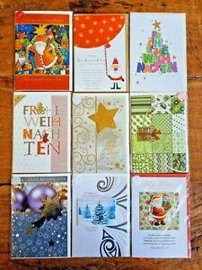 Hochwertige Grußkarten 9er SET Weihnachten Karten mit Umschlägen Silvester WS04