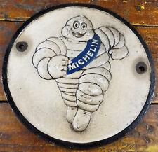 Michelin Man Tires Running Tire Man Logo Gas Station Cast Iron Pump Plate Sign