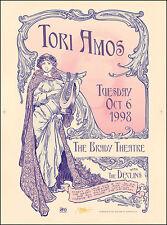 Tori Amos 1998 Tulsa Ok Concert Poster Original Uncut Press-Sheet Signed