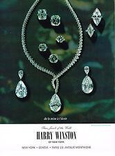 PUBLICITE ADVERTISING 034   1964   HARRY WINSTON   joaillier