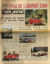 L'Auto-journal n°147 1956 - L'Aronde 1300 - L'Ile de Beauté - 26eme salon Genève