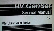 "Onan RV Generator MicroLite 2800 Series ""KV"" Service Manual"