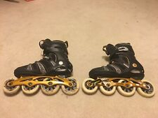 K2 Mach 100 Cf Boa Inline Skates Size 10.5 Rollerblades Ilq-9 Plus Pristine