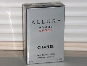 ALLURE HOMME SPORT CHANEL Men's eau de Toilette Spray 3.4 oz, 100 ml NIB, SEALED