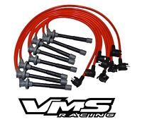 VMS RACING 96-98 FORD MUSTANG SVT COBRA 10.2MM SPARK PLUG WIRE SET 4.6L DOHC RED
