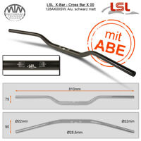 LSL X-Bar - Cross Bar Lenker Alu schwarz matt 28,6mm