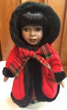 """African American 12"""" Porcelain Doll Dan Dee Collector's Choice With Stand Nice!"""