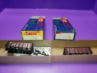 AS IS HO scale Roundhouse Conrail RR LOW SIDE ORE CAR HOPPER LOT OF 2 AS IS