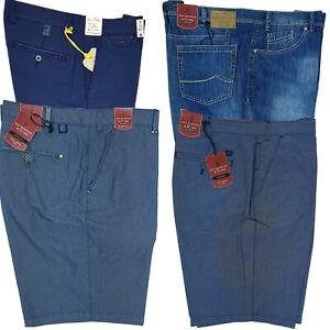 Bermuda Uomo Taglie Forti Pantalone Corto Pantaloncini Jeans Calibrato Fantasia