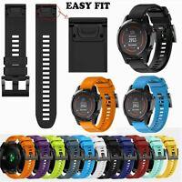 Quick Release Silicone Wrist Band Strap Bracelet For Garmin Fenix 5 5X 5S Watch