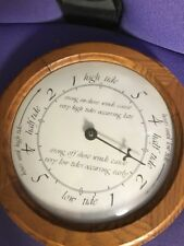 """New listing Hard-To-Find Tide Clock Barometer In Wooden Frame (10"""") Great Condition!"""