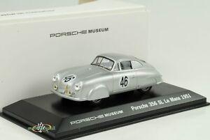 1951 Porsche 356 #46 24H le Mans Argent 1:43 Welly Musée
