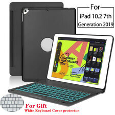 """For iPad 10.2"""" 7th Generation 2019 Aluminum Case Cover Keyboard Backlight"""