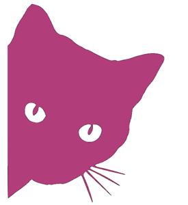 Peeping Kitten, Cat, Wall, Door, Car, Van, Vinyl, Decal Sticker.