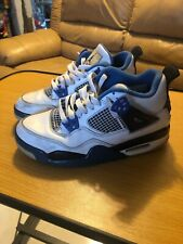 Air Jordan IV 4 Retro Motorsport  white blue size 5 Boys 408452-117 No Box