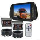 7''Mirror Monitor 4PIN Backup CCD Camera For Car Truck Caravan Truck Caravan Bus