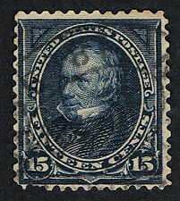 Genuine Scott #274 Used 1895 Dark Blue 15¢ Watermarked Clay - Estate Close-Out