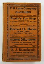 Fitchburg Massachusetts Telephone Book Directory Price & Lee Businesses Ads 1934