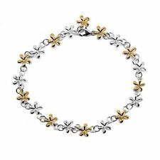 "Twisted Flower Ygp Solid 9"" 10"" Cz 925 Sterling Silver Anklets Foot Chain 8mm"