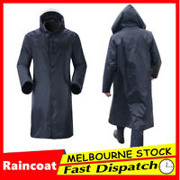 Womens Mens Waterproof Raincoat Long Trench Unisex Rain Coat Jacket Adults
