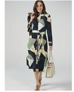 WULI:LUU by Gok Wan Printed Shirt Dress New Size 12 Camouflage Print RRP £60