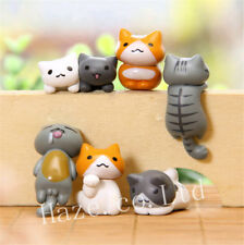 6pcs/set Anime Neko Atsume Cat Figure Figurine Model Toys Collection Home Decor