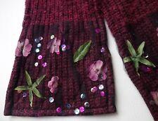 ECHARPE en laine fleurs & paillette TAKI-TO WIEN NEUF Made in Austria!