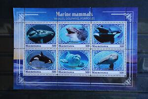 Wale 30 whales Delfine Meerestiere sea animals Fauna KB Block postfrisch ** MNH