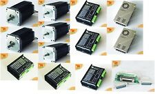 【Promote &Free】5Axis Nema 34 CNC Stepper Motor 1090OZ Spindle &2 Nema23,425oz/in