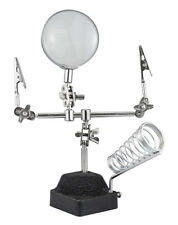 """Soldering Station with Helping Hand Magnifier with 2-1/2"""" Diameter Lens 4X"""