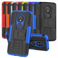 For Motorola Moto G6 Play Case Hybrid Shockproof Rugged Armor Kickstand Cover