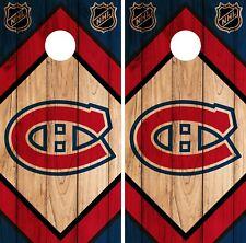 Montreal Canadiens Cornhole Wrap NHL Game Board Skin Set Vinyl Decal CO300