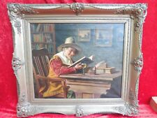 Pretty, Old Gemaelde __ MAN WITH BOOK __ Emil kuhlann-reher (Listed)__