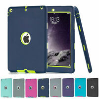 Shockproof Heavy Duty Rubber Hard Case Cover For iPad 9.7 6th 5th Gen 2017 2018