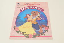 Disney Beauty & the Beast Paper Doll Golden Books 3 Dolls & Precut Fashions NEW